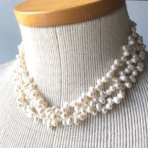 Real Pearl Necklace White Pearls